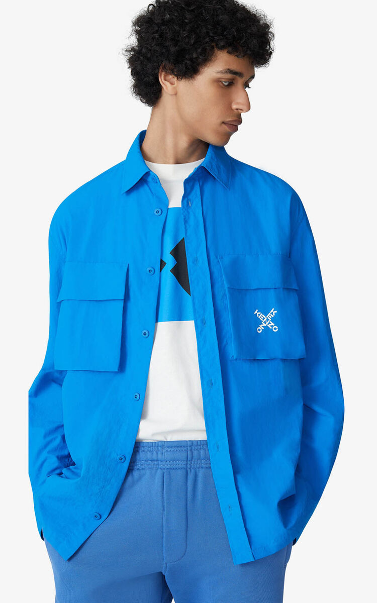 CYAN KENZO Sport 'Little X' shirt jacket for men