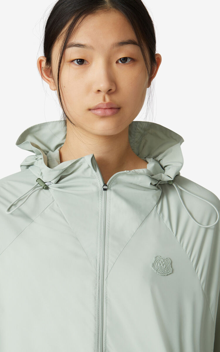 SAGE GREEN K-Tiger windbreaker for women KENZO
