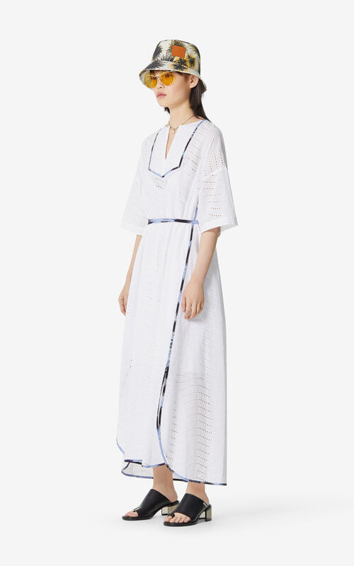 WHITE 'High Summer Capsule Collection' caftan dress for women KENZO