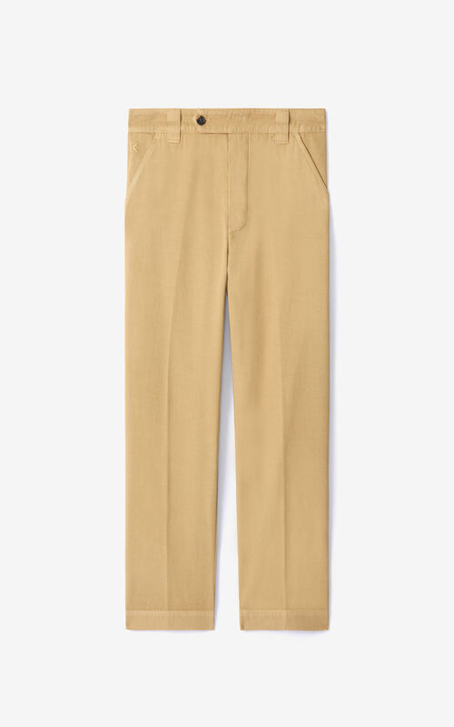 BEIGE Cropped trousers for unisex KENZO