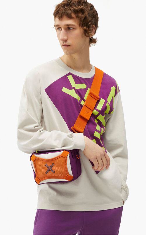 PURPLE KENZO Sport bag with strap for women