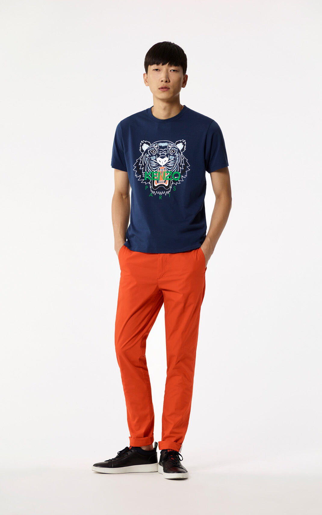 MEDIUM RED Chinos for men KENZO