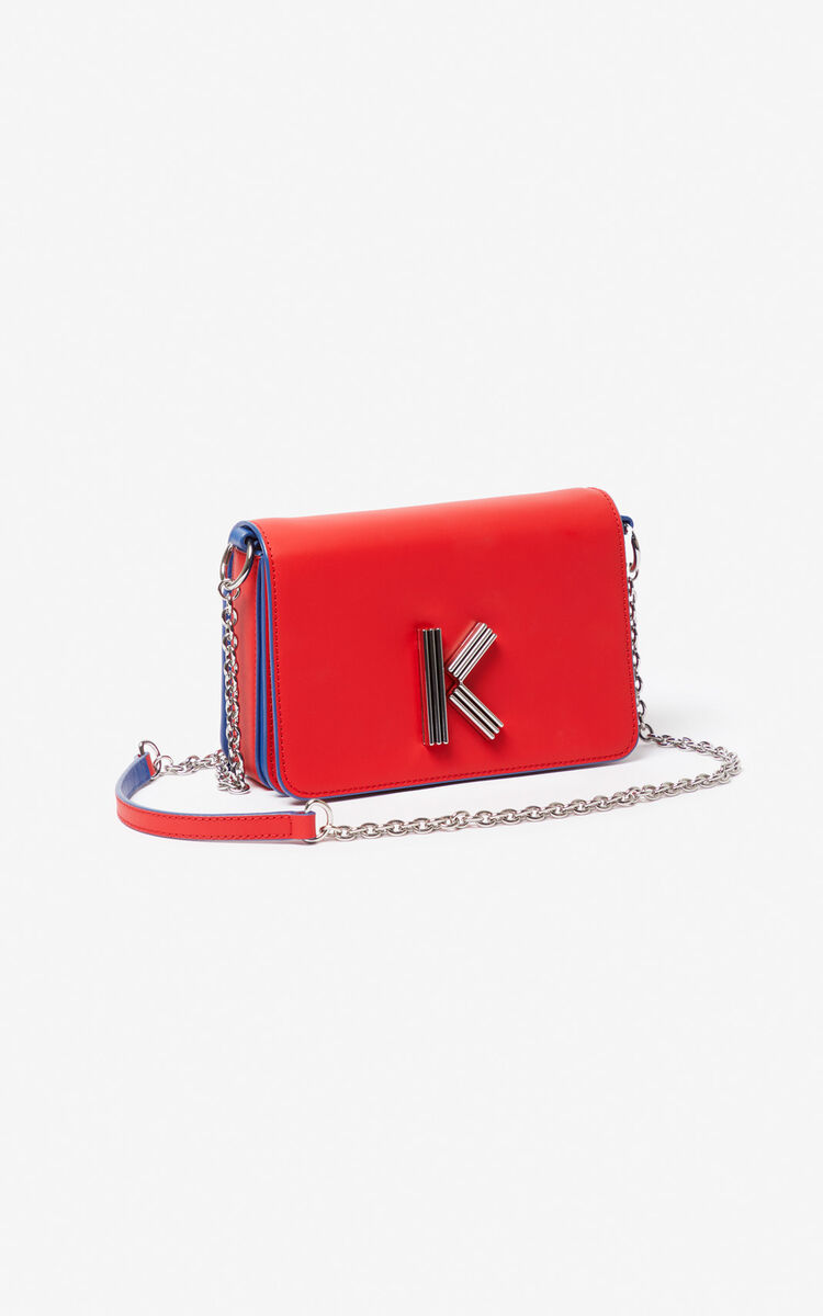 MEDIUM RED K-Bag two-tone Chainy bag for unisex KENZO