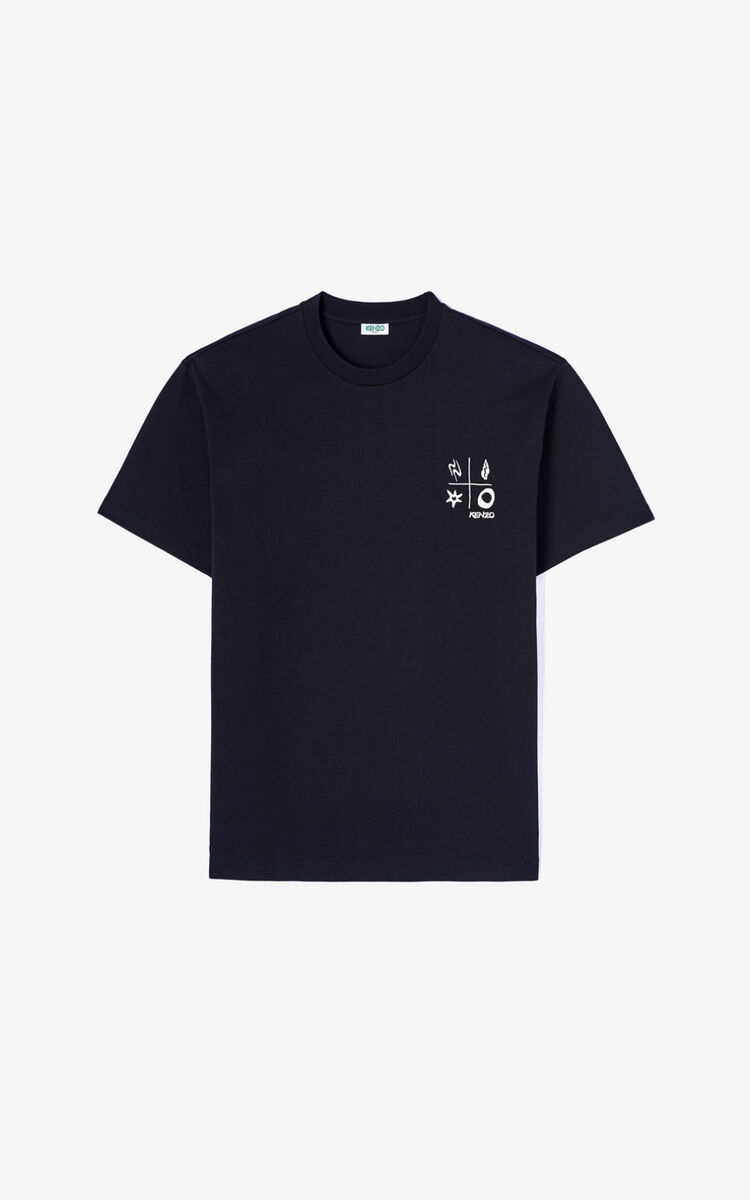 BLACK 'Compass' T-shirt   for men KENZO