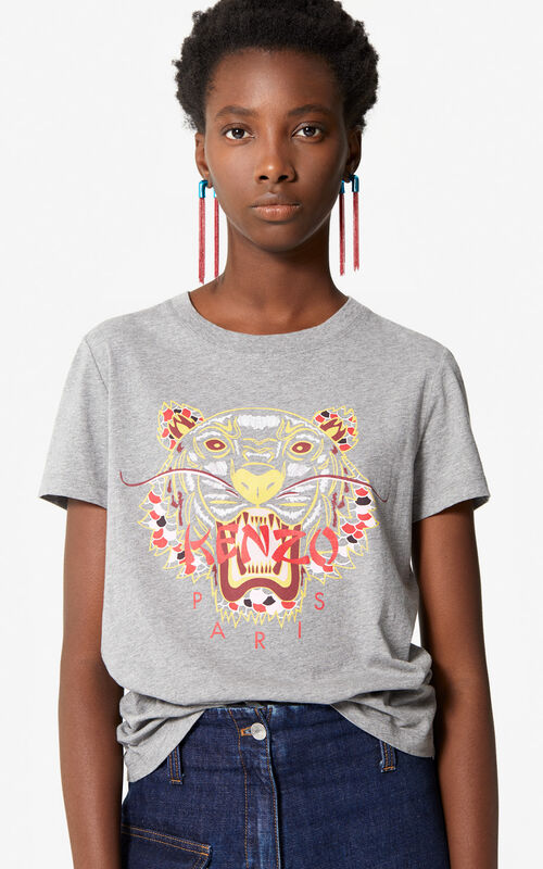 DARK GREY 'Dragon Tiger' T-shirt for women KENZO