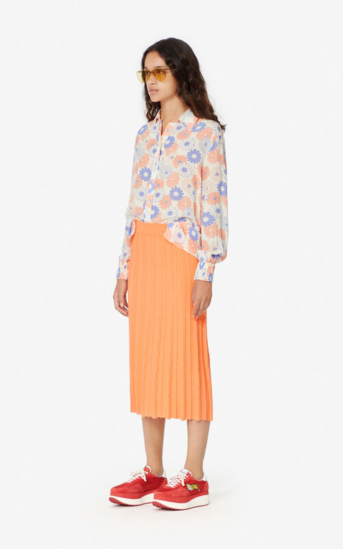 OFF WHITE 'Ume Flower' silk shirt for women KENZO