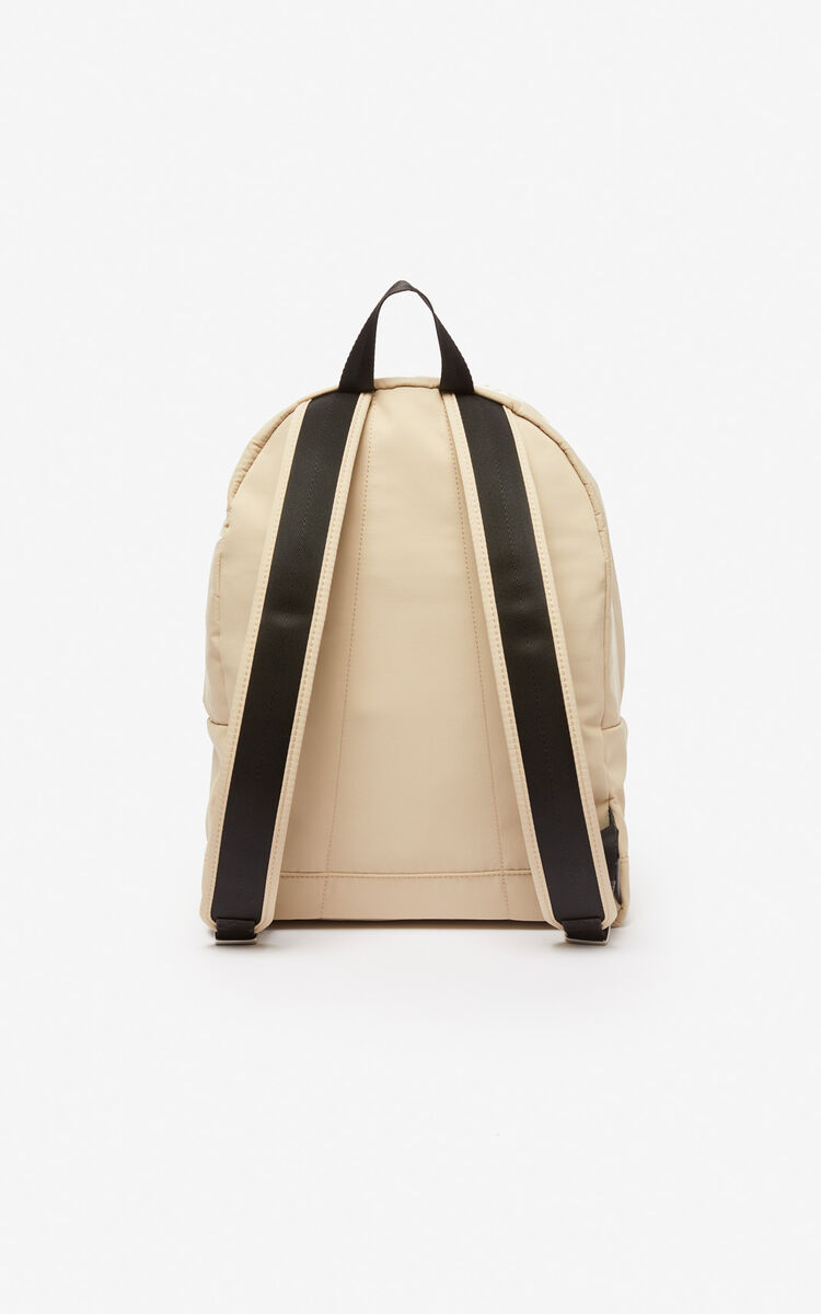 BEIGE Large KENZO Logo backpack for women