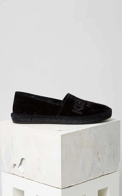 BLACK Suede KENZO Espadrilles for men
