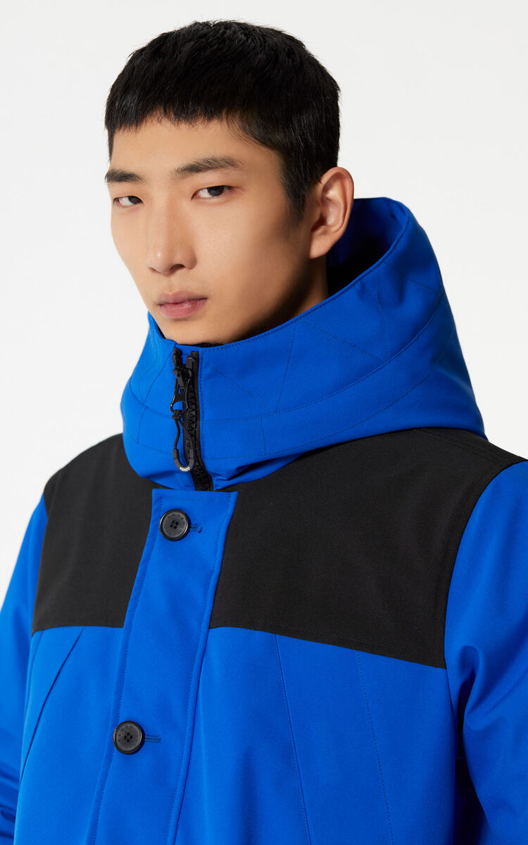 FRENCH BLUE Hooded parka for women KENZO