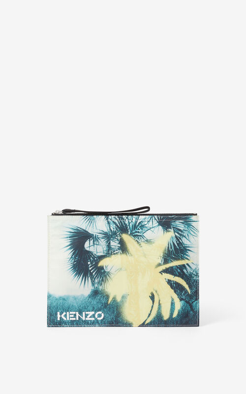 VANILLA 'Hawaiian Graffiti' 'High Summer Capsule' large clutch for unisex KENZO