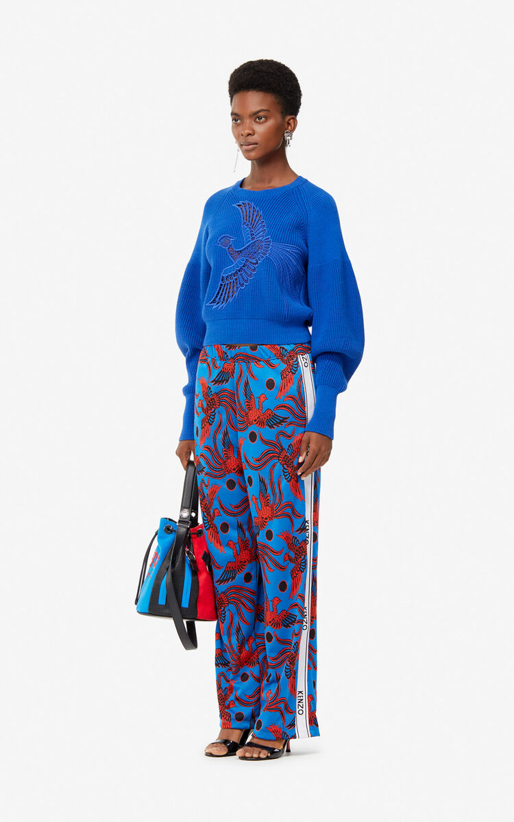 FRENCH BLUE 'Flying Phoenix' jumper for women KENZO