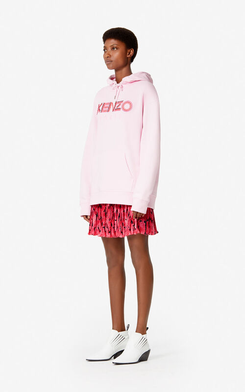 PASTEL PINK KENZO Paris 'Hiking' hoody for women