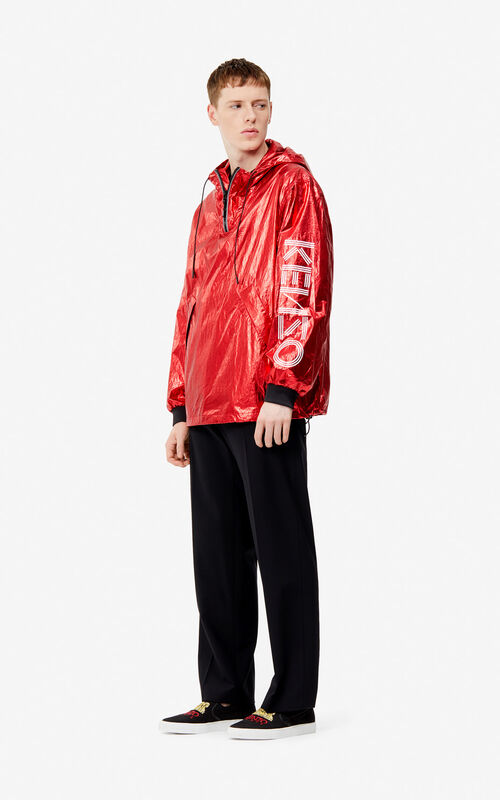 VERMILLION KENZO logo shiny windstopper 'Exclusive Capsule' for men