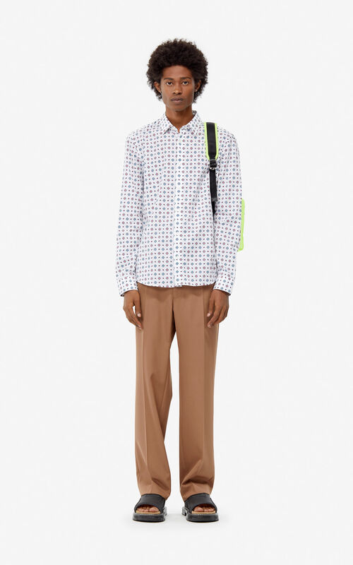 WHITE 'Médaillons' slim-fit shirt for men KENZO