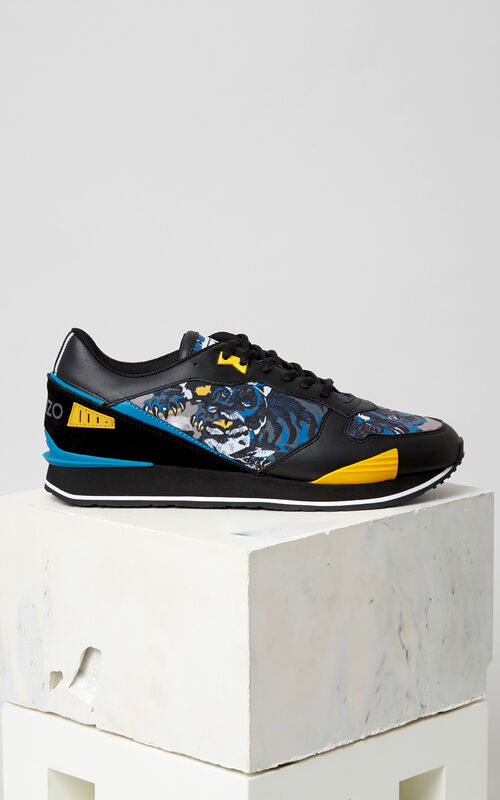 BLACK Flying Tiger K-run sneaker for men KENZO