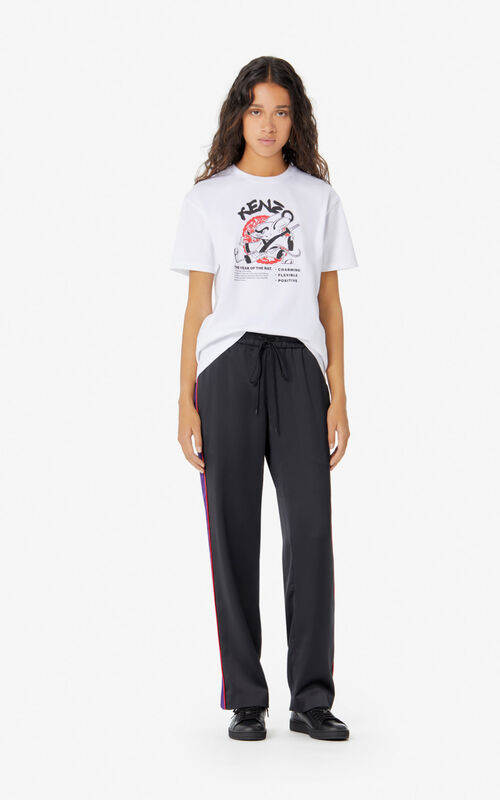 WHITE 'Kung Fu Rat' t-shirt for women KENZO