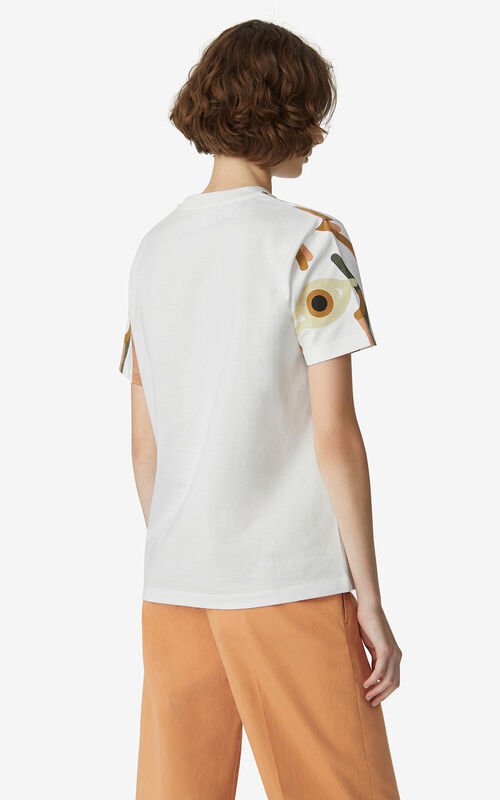 WHITE K-Tiger loose T-shirt for women KENZO