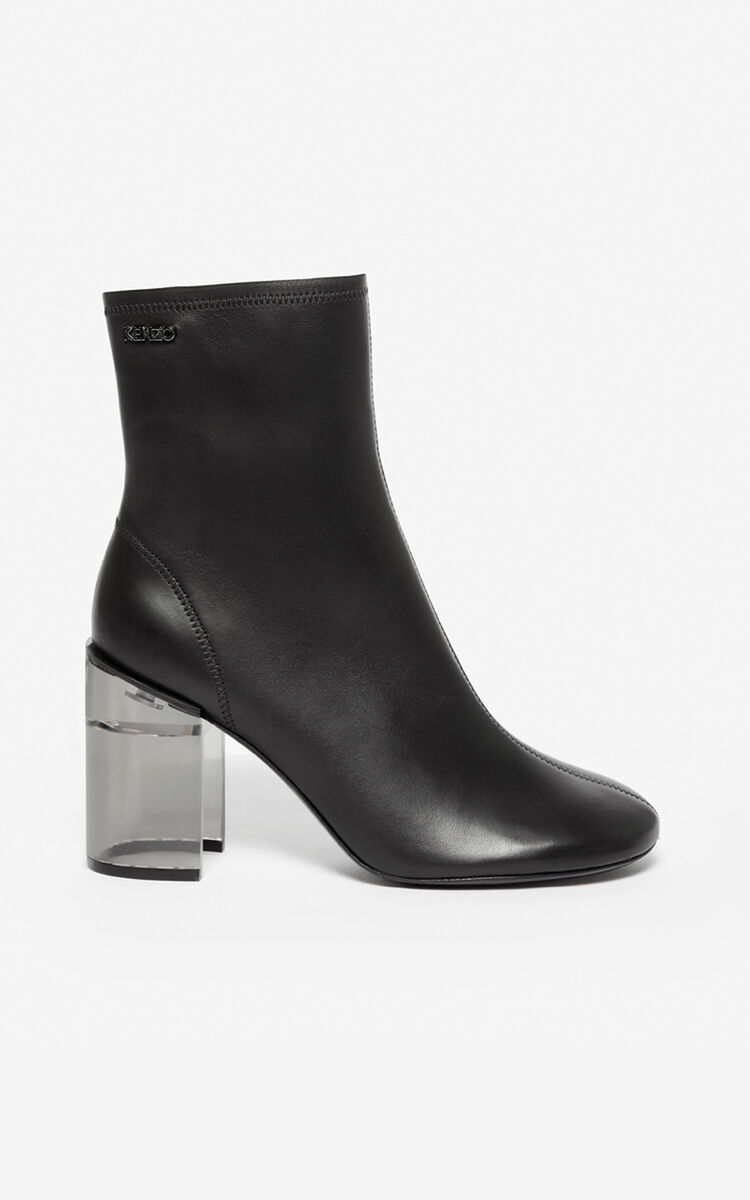BLACK K-Round ankle boots for women KENZO