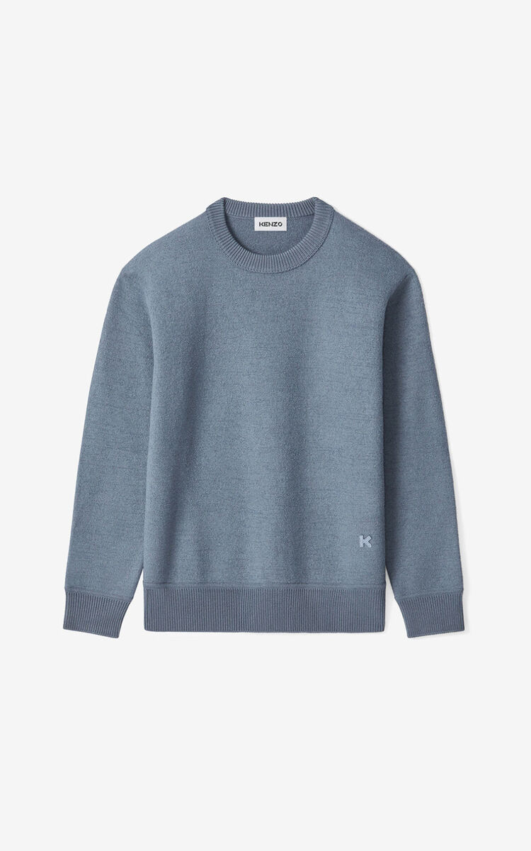 BLUE K wool jumper for men KENZO