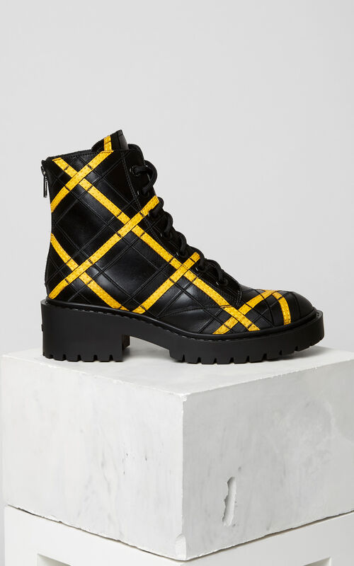 Pike Embroidered Boot, MARIGOLD, KENZO
