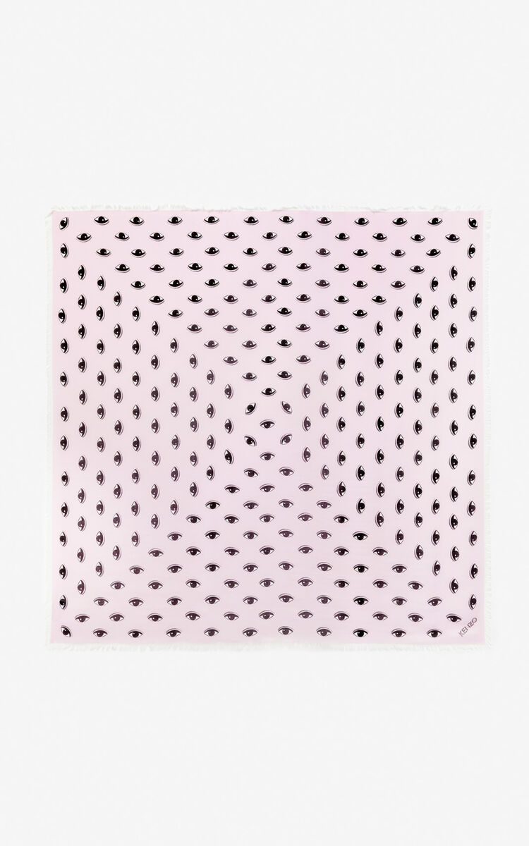 PASTEL PINK Large multi eye scarf for unisex KENZO