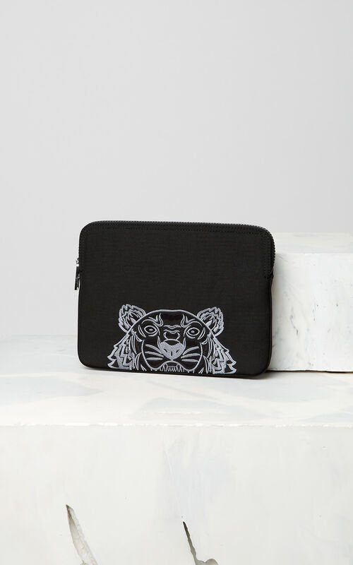 BLACK Tiger tablet sleeve for men KENZO