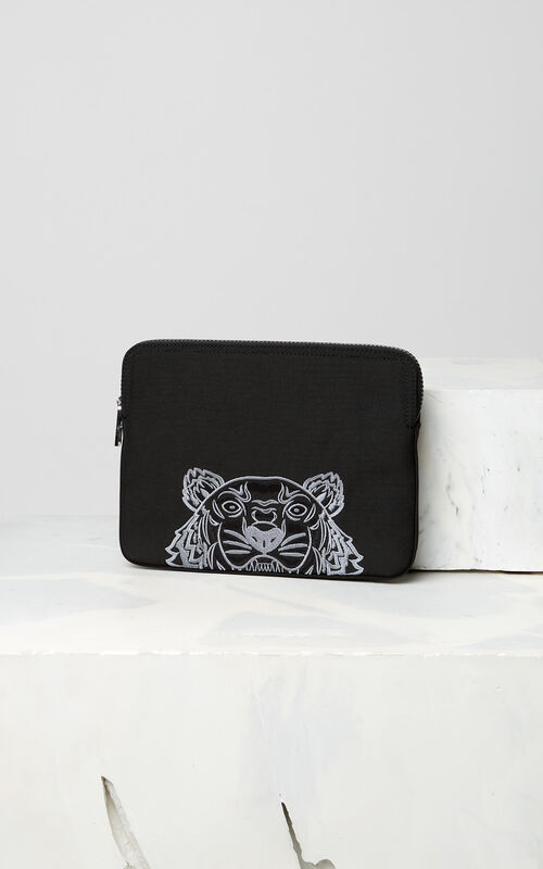 BLACK Tiger tablet sleeve for unisex KENZO