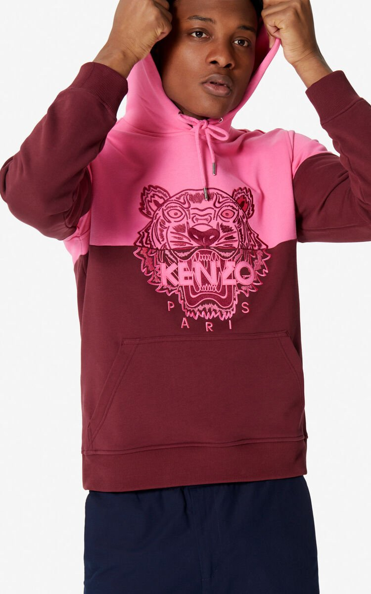 BORDEAUX Two-tone Tiger hoodie for men KENZO