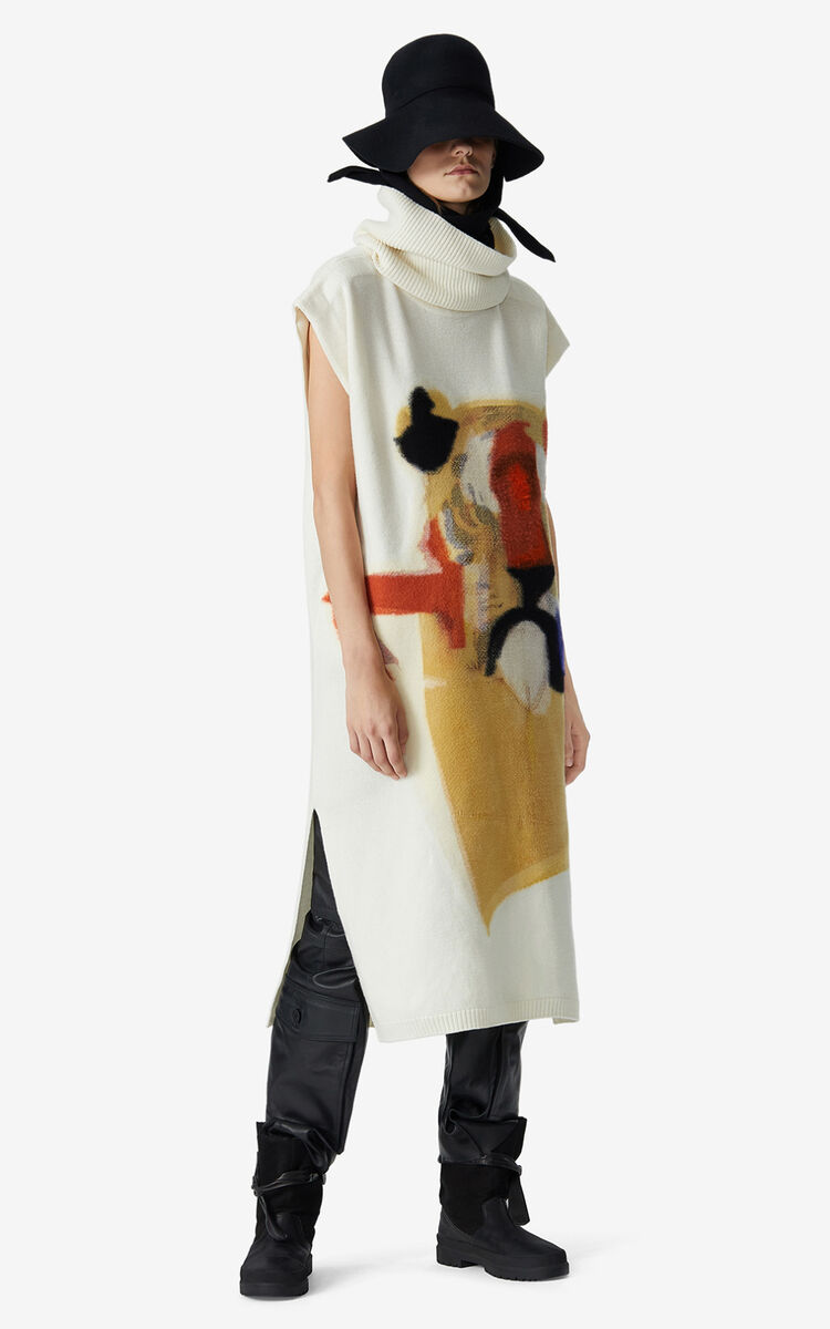 MULTICOLOR Dress with Júlio Pomar illustration for women KENZO