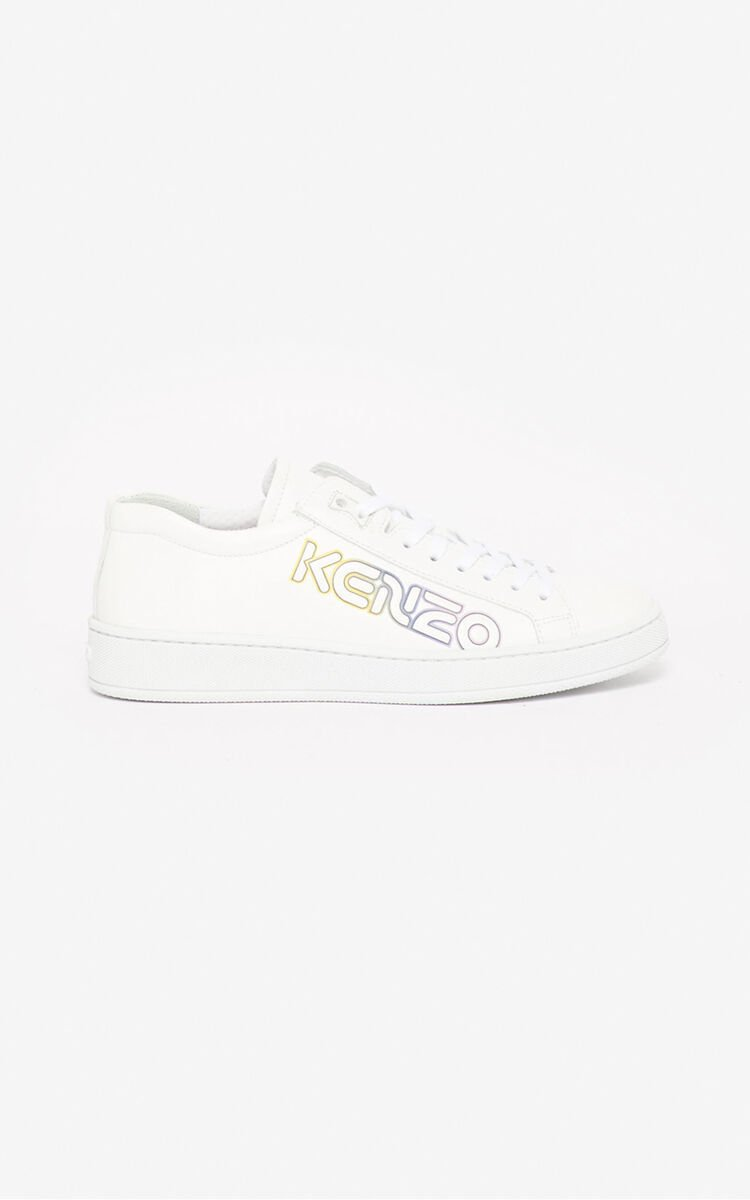 WHITE 'Wetsuit' Tennix sneakers for unisex KENZO