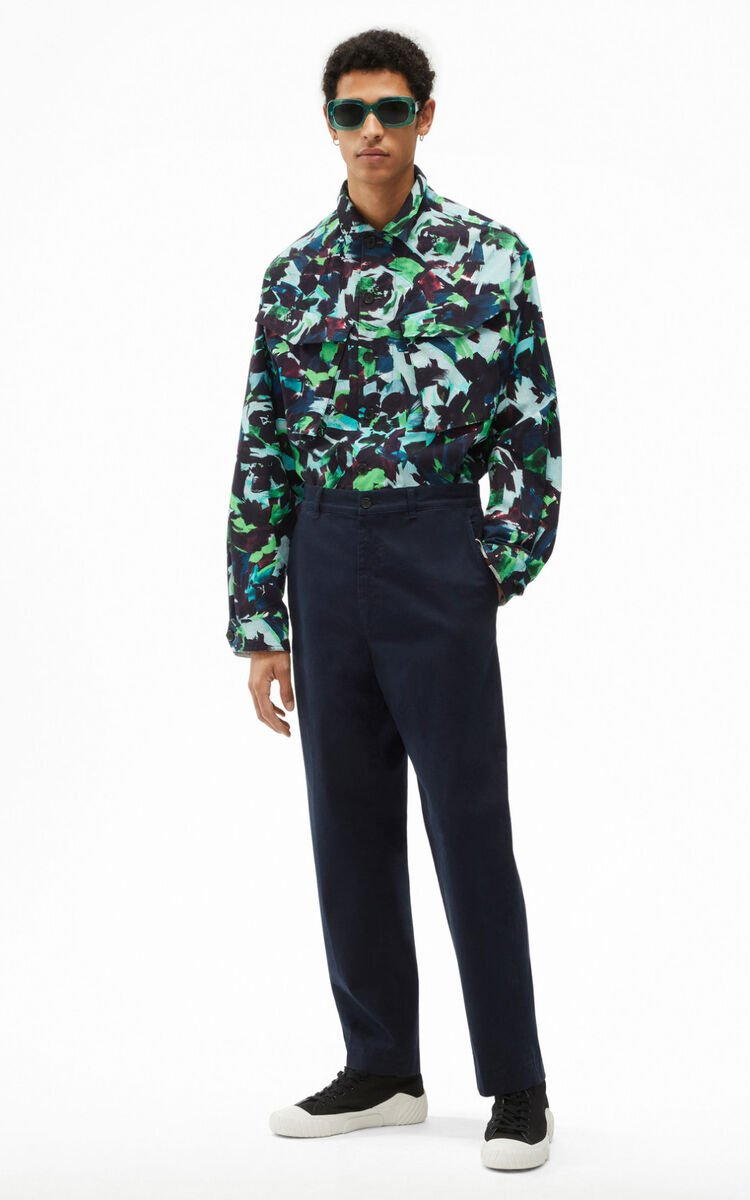BLUE BLACK Cropped trousers for women KENZO