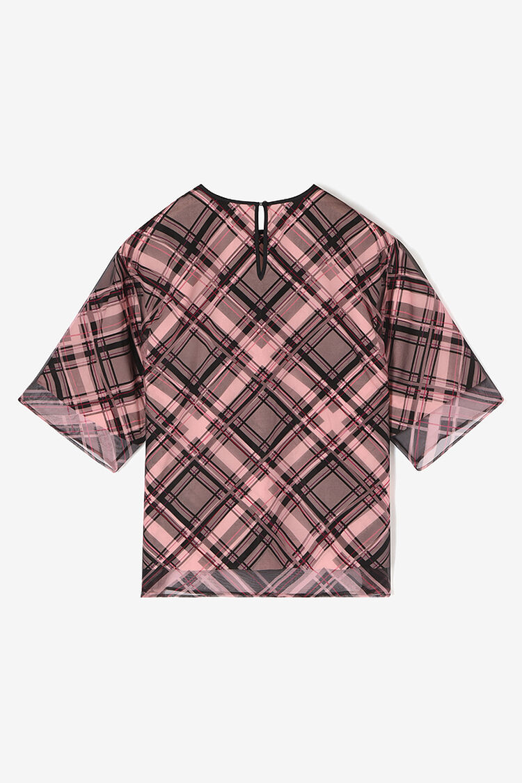FADED PINK 'Frame Check' top for women KENZO