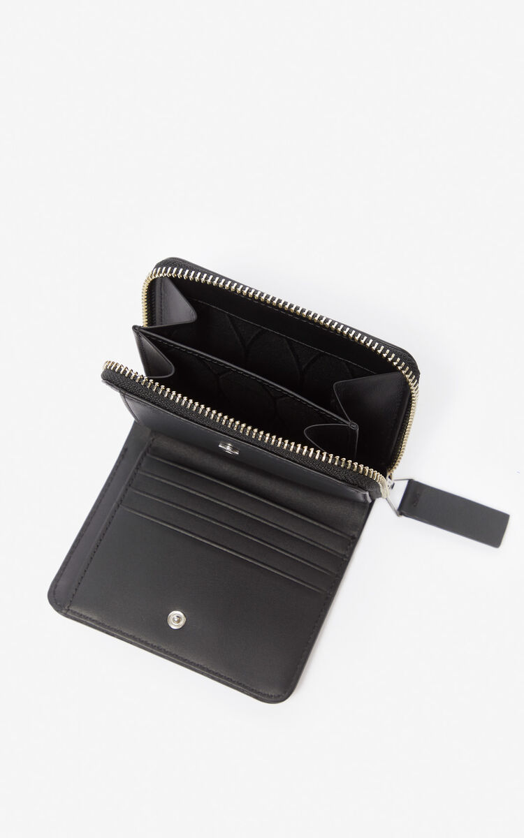 BLACK Small K-Bag leather wallet for women KENZO