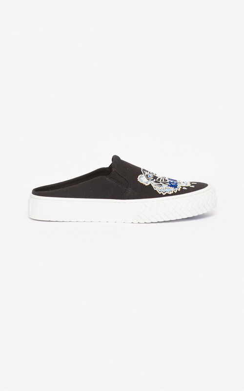 BLACK Tiger K-Skate slip-on mules  for unisex KENZO