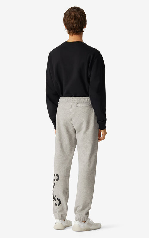 PEARL GREY KENZO Sport 'Big X' joggers for men