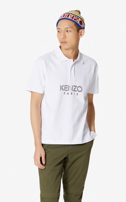 WHITE KENZO Paris polo shirt for men