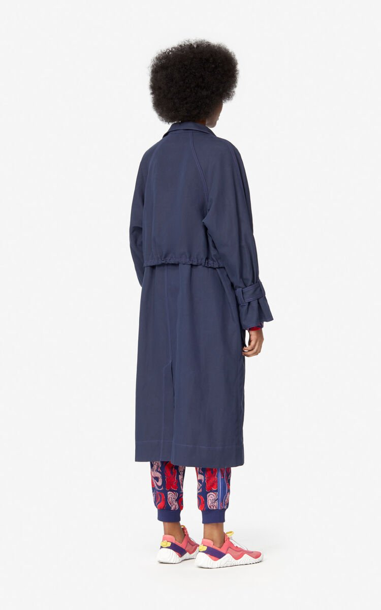 MIDNIGHT BLUE Trench coat for women KENZO