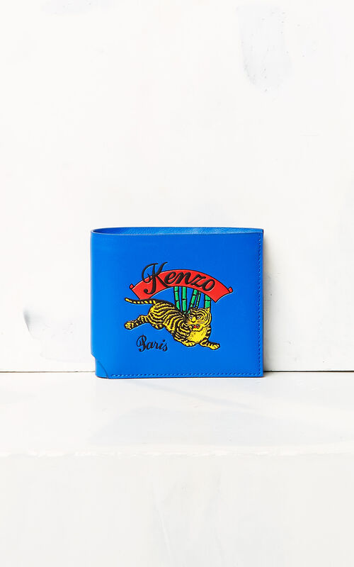 FRENCH BLUE 'Jumping Tiger' Wallet for men KENZO