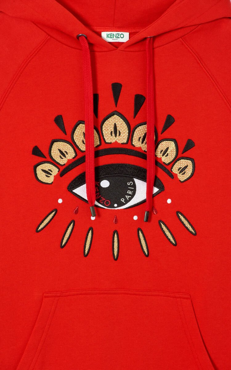 VERMILLION Multi Eye hoodie for women KENZO