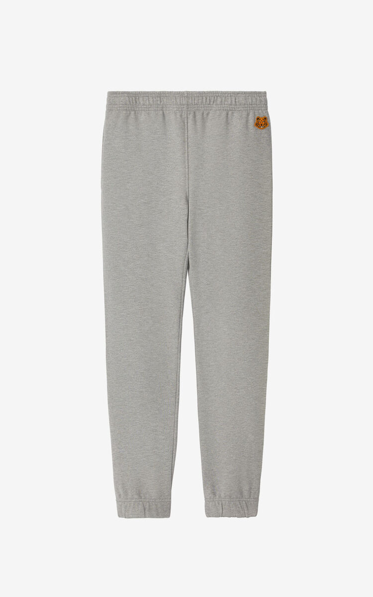 PEARL GREY Tiger Crest jogging trousers for women KENZO