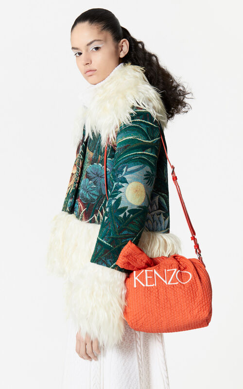 MEDIUM ORANGE Bucket bag for women KENZO