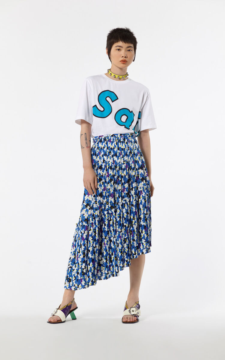 WHITE Short 'Saisei' t-shirt for women KENZO