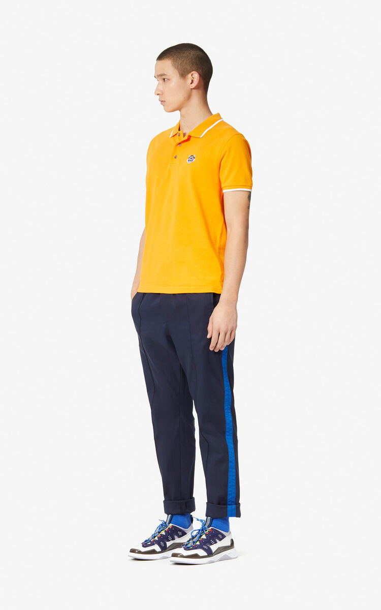 MEDIUM ORANGE Fitted Tiger polo shirt for women KENZO