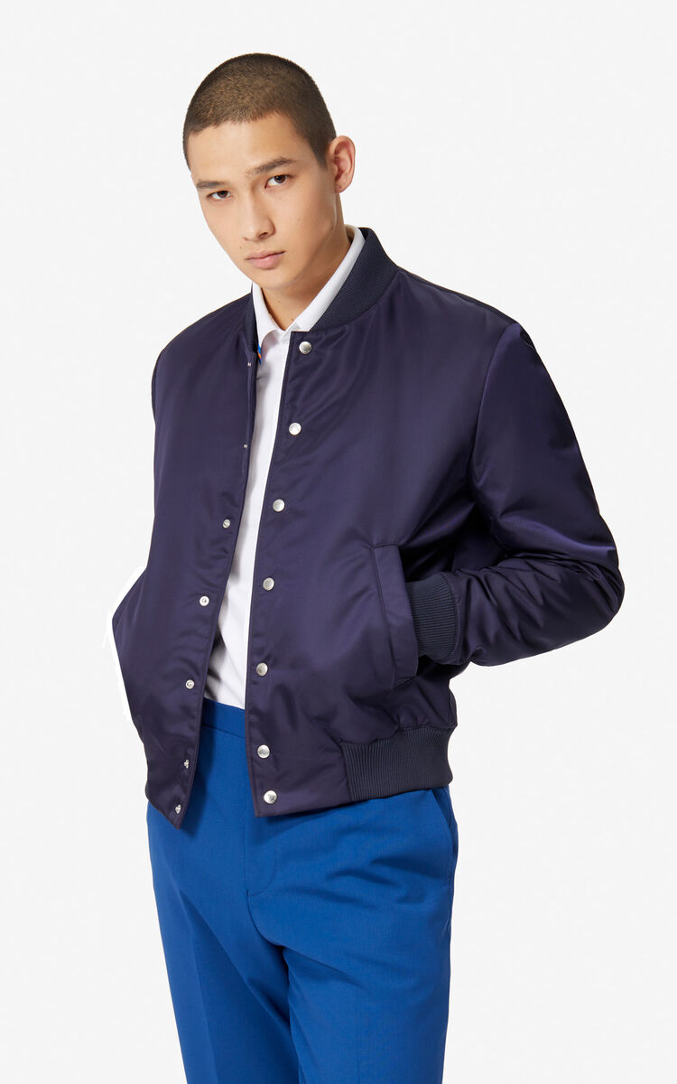 NAVY BLUE Tiger Bomber Jacket for unisex KENZO