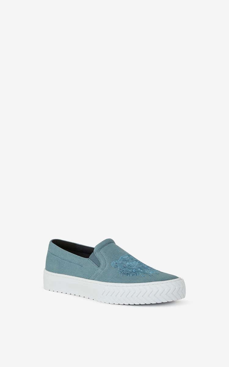 GLACIER K-Skate Tiger laceless canvas sneakers for unisex KENZO