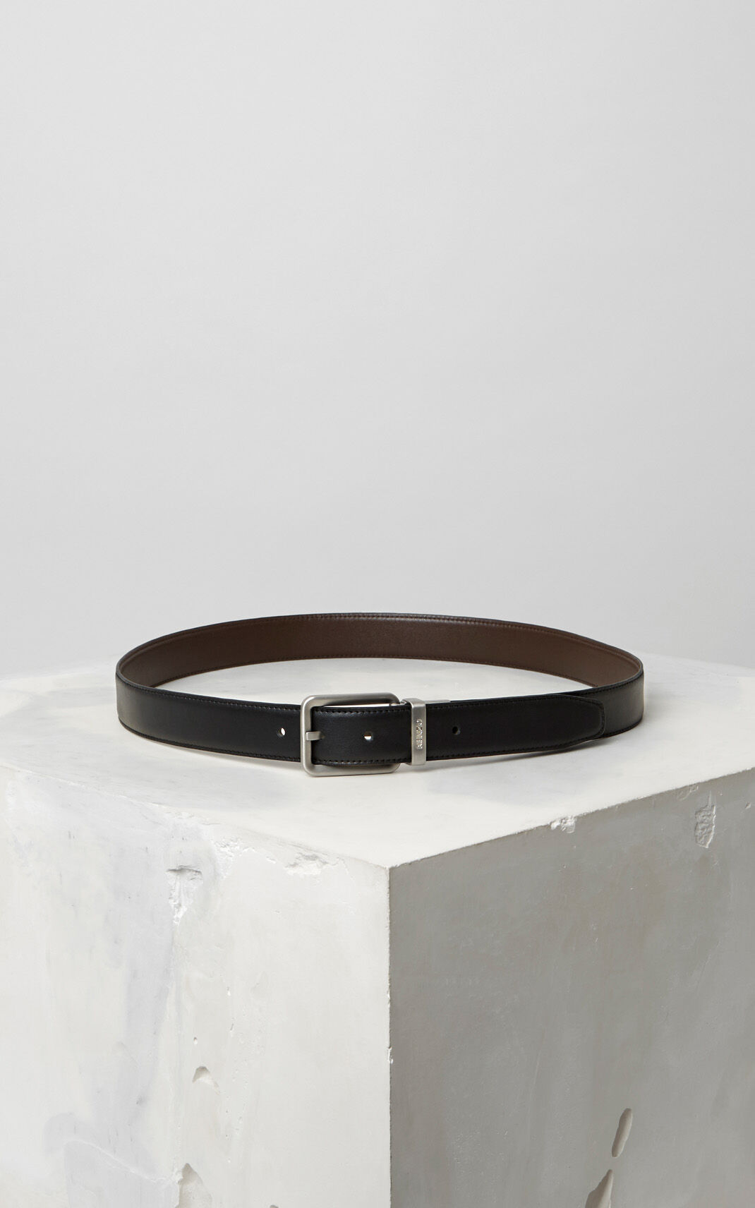 DARK BROWN Reversible leather Belt for men KENZO