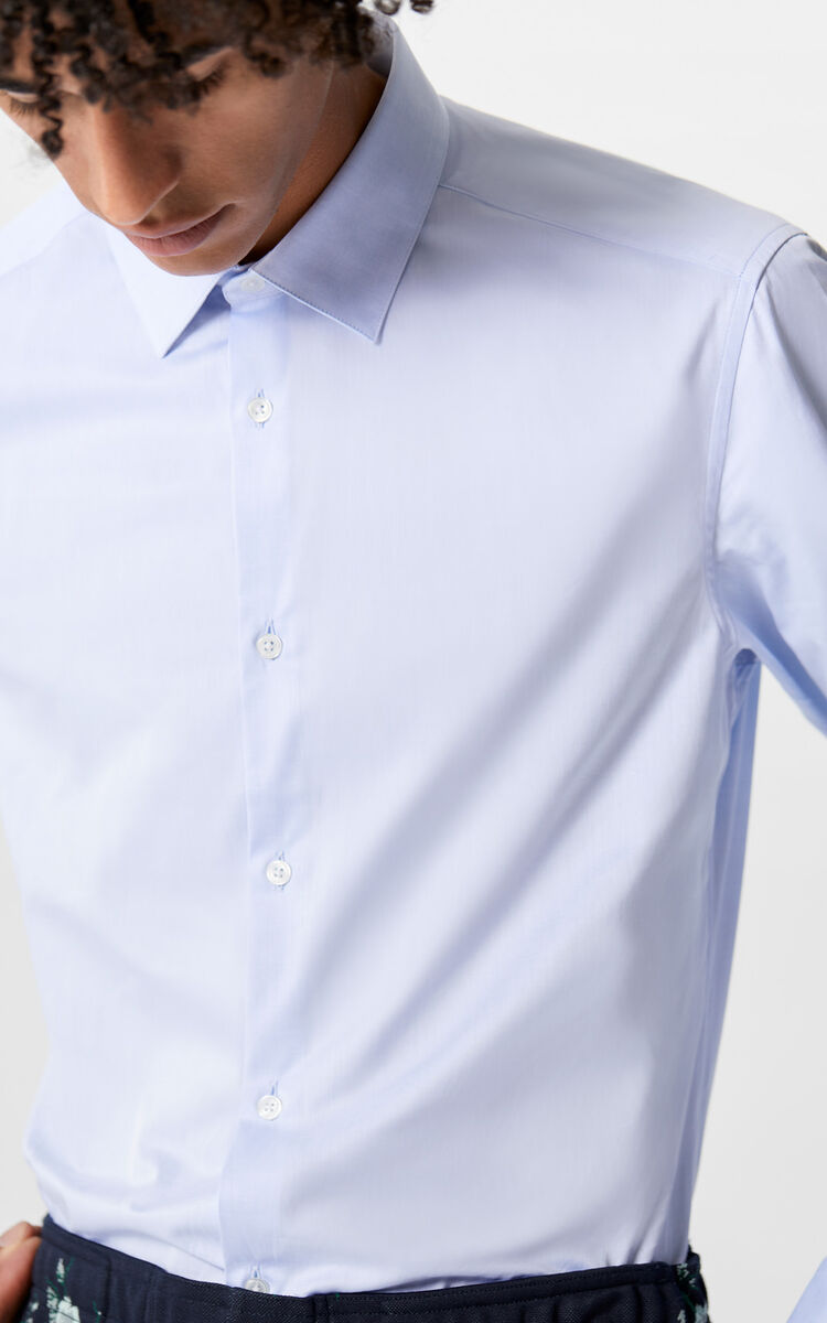 SKY BLUE Cotton Business Shirt for men KENZO