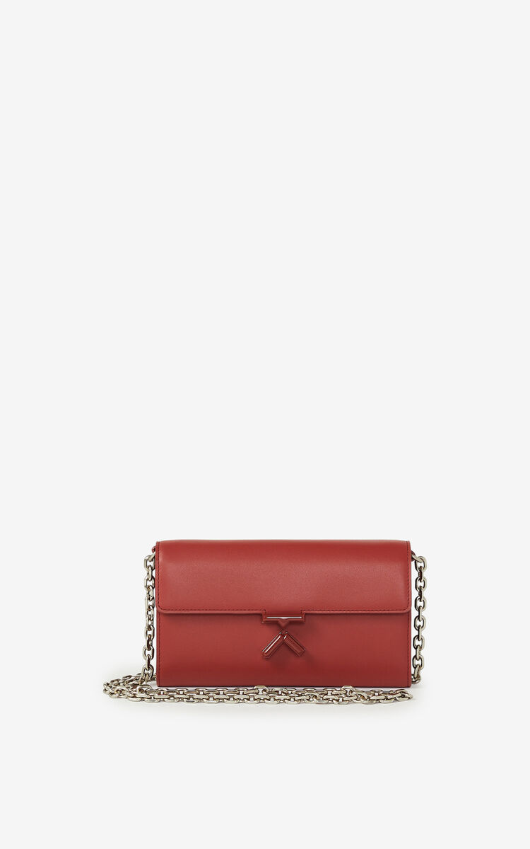 MOROCCAN BROWN KENZO K leather wallet on a chain    for women