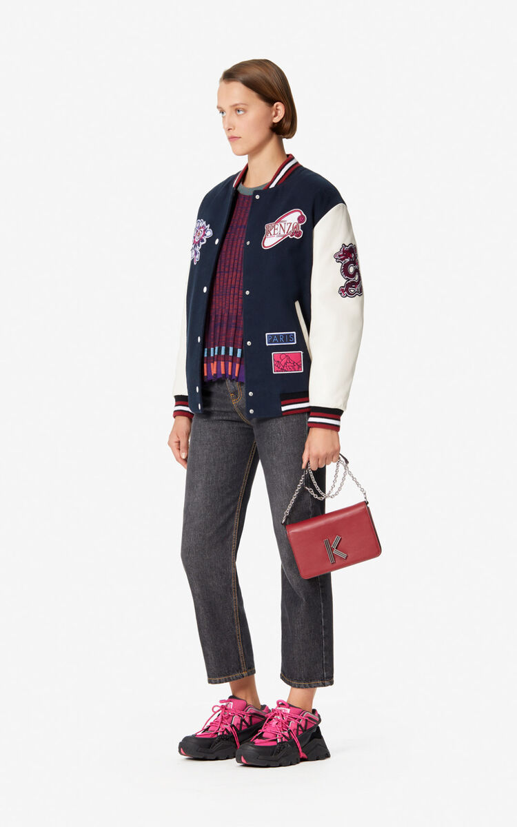 NAVY BLUE KENZO Mountain' Varsity jacket for women