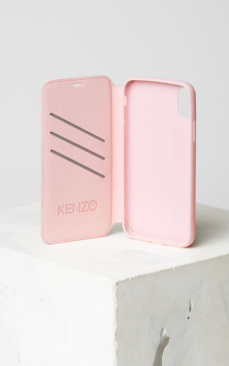 FADED PINK Tiger iPhone X Folio for women KENZO